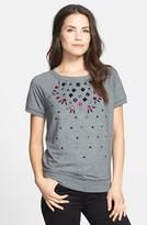 Halogen Embellished Short Sleeve Top