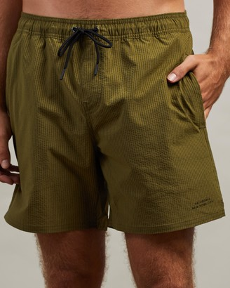 Saturdays NYC Timothy Seersucker Swim Shorts
