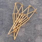 Otis Jaxon Silver Jewellery Geometric Gold Statement Drop Earrings