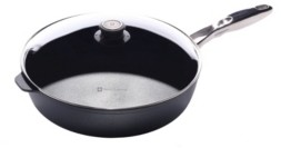 """Swiss Diamond Hd Saute Pan with Lid and Stainless Steel Handle - 12.5"""" , 5.8 Qt"""
