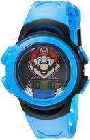 Nintendo Boy's Quartz Plastic Casual Watch, Color:Blue (Model: GMA3007)