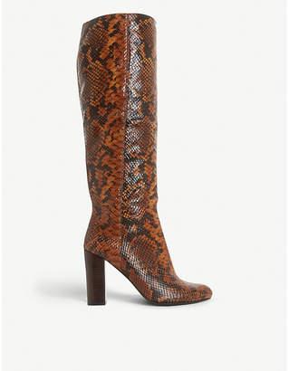 Dune Simonne knee-high leather boots