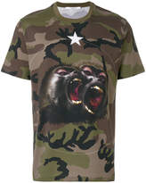 Givenchy Monkey Brothers motif camouflage T-shirt