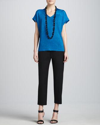 Eileen Fisher Organic Cotton Slim Ankle Pants, Petite