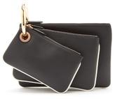 Fendi Triclutch leather clutch