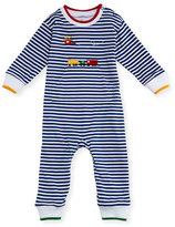 Florence Eiseman Striped Knit Coverall w/ Helicopter Embroidery, Size 3-18 Months