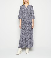 New Look Floral Long Sleeve Midi Dress
