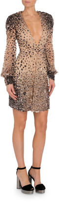 Tom Ford Embellished Full-Sleeve Mini Dress