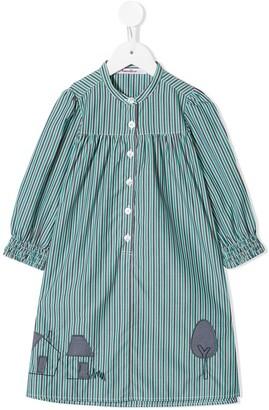 Familiar Striped Shirt Dress