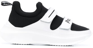 Pollini Touch Strap Platform Sneakers