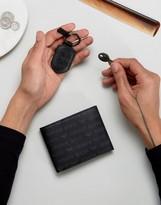 Armani Jeans Logo Wallet & Keychain Gift Set