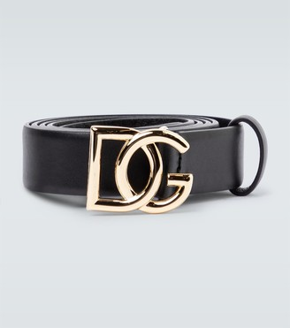Dolce & Gabbana Slim leather belt