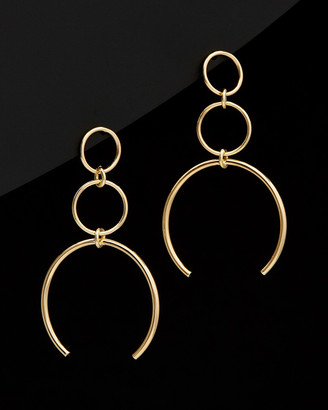 Italian Gold 14K Graduated Triple Circle Drop Earrings