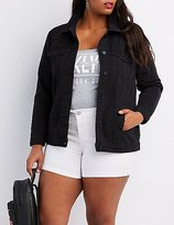 Charlotte Russe Plus Size Denim Boyfriend Jacket