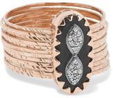 Pascale Monvoisin Bowie N°1 9-karat Rose Gold, Bakelite And Diamond Ring