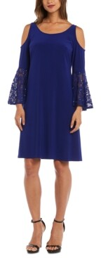 Thumbnail for your product : R & M Richards Cold-Shoulder Sheath Dress