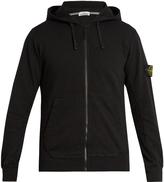 Stone Island Logo-patch cotton-jersey hooded sweatshirt