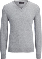 Cashmere 12gg V Neck Sweater In Grey