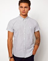 Asos Oxford Shirt in Short Sleeve with Stripe