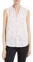 Rebecca Taylor Women's Ivy Vine Clipped Jacquard Top