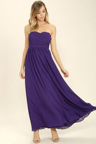 LuLu*s Love and Be Loved Purple Strapless Maxi Dress