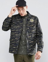 Element Kruger Camo Field Jacket Green With Quilted Lining