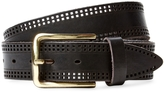 Berge Men's Laser-Cut Leather Belt
