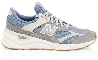 New Balance X-90 Suede & Mesh Sneakers