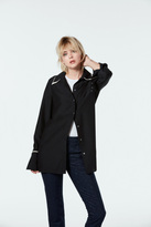 J Brand Blake Oversized Silk Shirt In Black/Slip