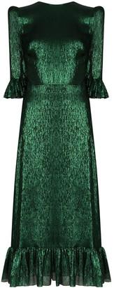 The Vampire's Wife High-Shine Midi Dress