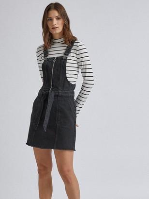 Dorothy Perkins Zip Front Mini Dress - Black