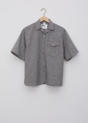 Mhl By Margaret Howell Cotton Linen Gingham Safari Shirt