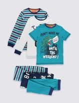 Marks and Spencer 3 Pack Striped Pyjamas (6-16 Years)