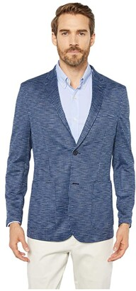 Vince Camuto Houndstooth Performance Blazer (Navy Solid) Men's Clothing