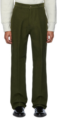 Ami Alexandre Mattiussi Green Wide Fit Trousers