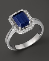 Bloomingdale's Diamond & Sapphire Ring in 14K White Gold - 100% Exclusive