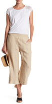 Three Dots Linen Culotte Linen Pant
