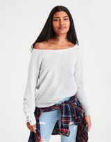 American Eagle Outfitters AE Lace-Up-Sleeve Sweatshirt