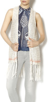 Blu Pepper Fringe Knit Vest