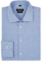 Barneys New York MEN'S CHECKED LINEN-COTTON DRESS SHIRT