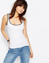 Asos The Ultimate Rib Tank With Tipping