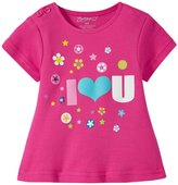 Zutano I Heart U Screen Swing Tee (Baby) - Fuchsia - 6 Months