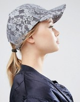 Asos Baseball Cap in Lace
