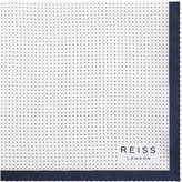 Reiss Nou - Silk Dotted Pocket Square in White, Mens