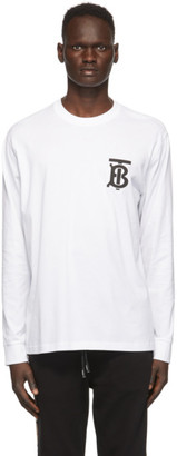 Burberry White Atherton T-Shirt