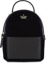 Kate Spade Watson Lane mini velvet backpack