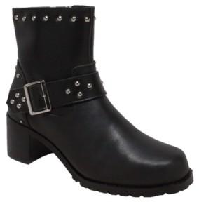 "Ride Tecs Ride Tec Women's 6"" Heeled Buckle Biker Boot Women's Shoes"
