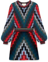Gucci Multicolor wool knit mini dress