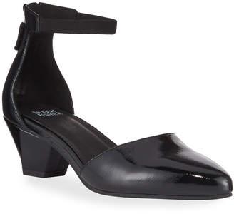 Eileen Fisher Just Patent Low Facet-Heel Pumps