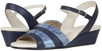 Amalfi by Rangoni Marostica (Navy Parmasoft/Blue Animal Suede) Women's Shoes